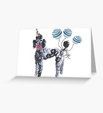 Party Poodle Greeting Card