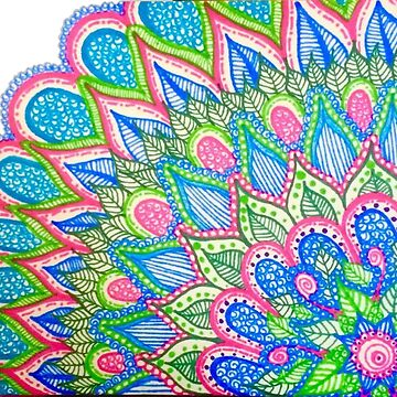 Abstract Greens and Pinks by adasha