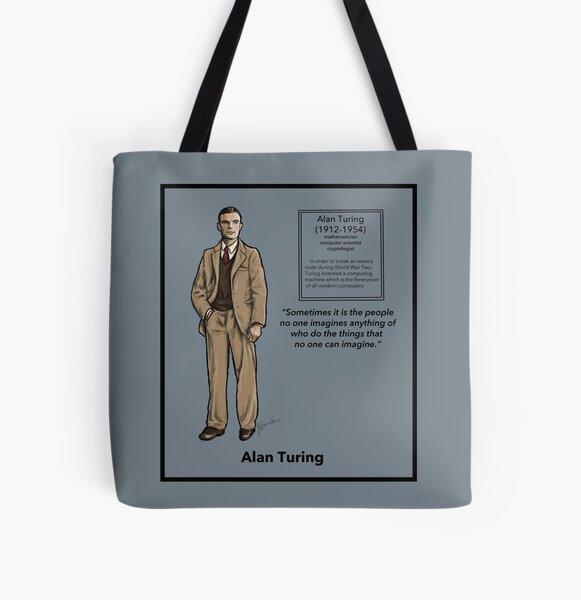 Alan Turing All Over Print Tote Bag