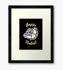 Ampipe High School Bulldogs Mascot Football Team Framed Print