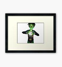 My green apple Framed Print
