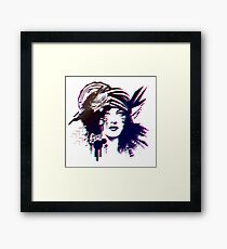 Pop Culture Woman Framed Print