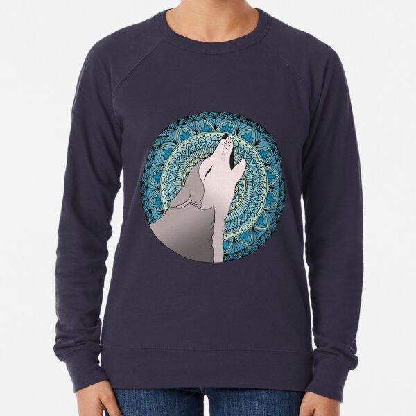 Howling Wolf Mandala Moon Lightweight Sweatshirt