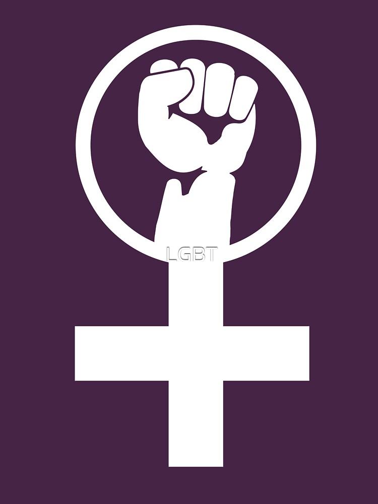 Feminist Women S Power Symbol Unisex T Shirt By Lgbt Redbubble