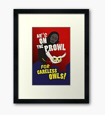 Careless Owls Framed Print