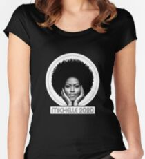 michelle michelle obama Women's Fitted Scoop T-Shirt