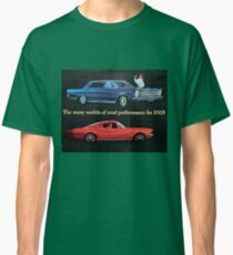 Old school Mustang and Fairlane, Ford Cars 1965 Classic T-Shirt