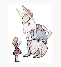 Jefferson Hare and the Child in Pink Photographic Print