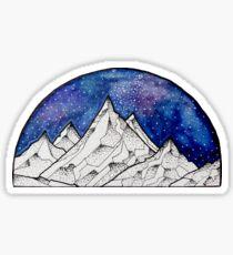 A Mountainous World :^) Sticker