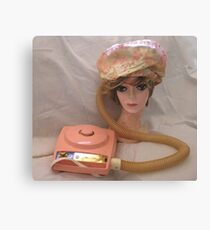 The price of beauty... 1960's retro hair dryer Canvas Print