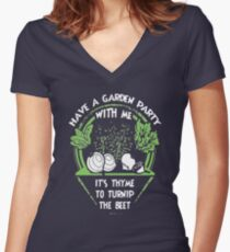 Love Garden - Gardening Shirt Women's Fitted V-Neck T-Shirt