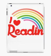 I Love Reading rainbow shirt iPad Case/Skin