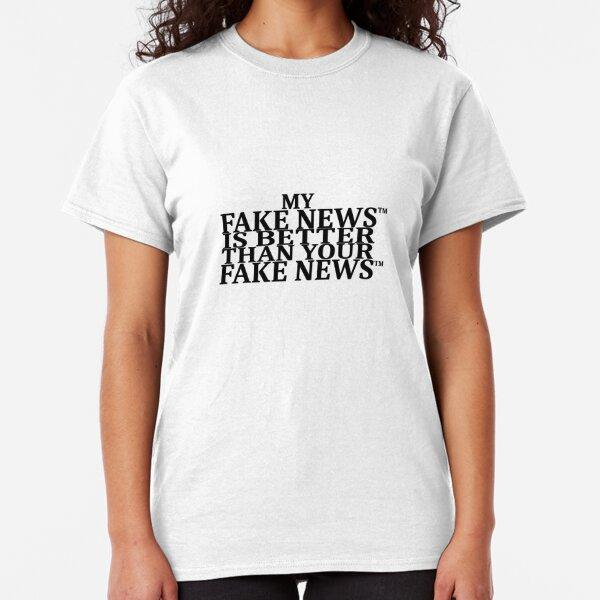 FAKE FAKE FAKE on white Classic T-Shirt