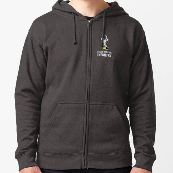 Infantry Corps - Chest Emblem Zipped Hoodie