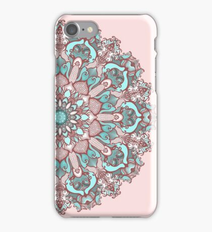 mandala#31 on pink background iPhone Case/Skin