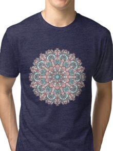 mandala#31 on pink background Tri-blend T-Shirt