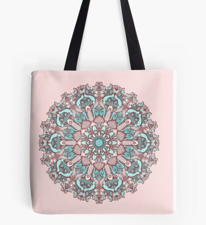 mandala#31 on pink background Tote Bag