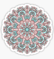 mandala#31 on pink background Sticker