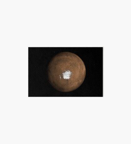 Nadir-Ansicht des Mars- Südpols. Galeriedruck