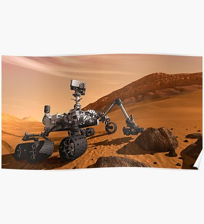 Künstlerkonzept des Mars Science Laboratory Curiosity Rover der NASA. Poster