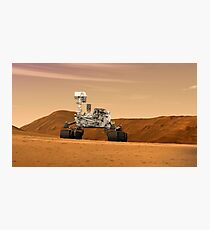Artist concept of NASA's Mars Science Laboratory Curiosity rover. Photographic Print