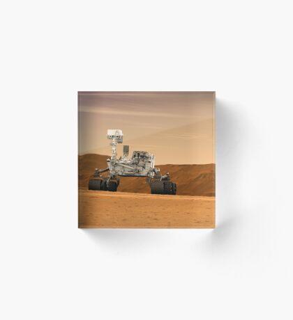 Künstlerkonzept des Mars Science Laboratory Curiosity Rover der NASA. Acrylblock