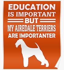 Airedale Terriers Poster