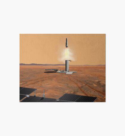 Das Konzept des Künstlers eines Aufstiegsfahrzeugs, das Mars verlässt. Galeriedruck