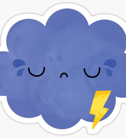 frustrated cloud Sticker