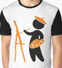 A painter working on his masterpiece Graphic T-Shirt