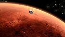 Das Konzept des Mars NASA Mars Science Laboratory nähert sich dem Mars. von StocktrekImages