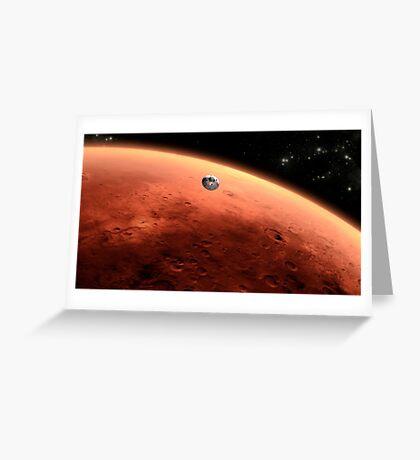 Das Konzept des Mars NASA Mars Science Laboratory nähert sich dem Mars. Grußkarte