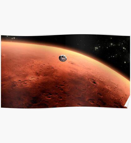 Das Konzept des Mars NASA Mars Science Laboratory nähert sich dem Mars. Poster