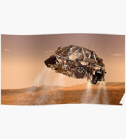 Die Rover und Abstiegsstufen für NASA Mars Science Laboratory Raumschiff. Poster