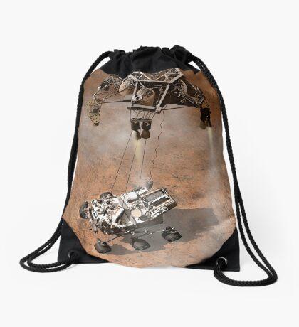 Das Konzept des Künstlers von NASAs Curiosity-Rover, der auf die Marsoberfläche aufsetzt. Turnbeutel