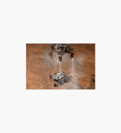 Das Konzept des Künstlers von NASAs Curiosity-Rover, der auf die Marsoberfläche aufsetzt. Galeriedruck