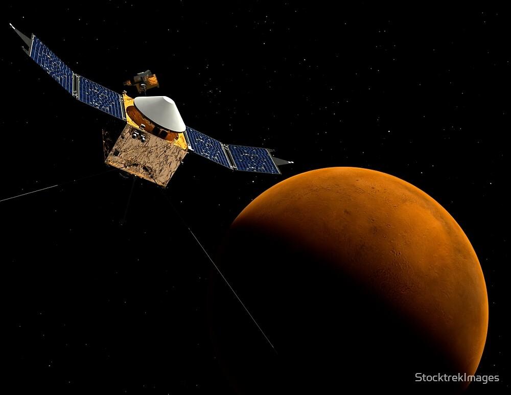 Künstlerisches Konzept der MAVEN-Raumsonde der NASA. von StocktrekImages