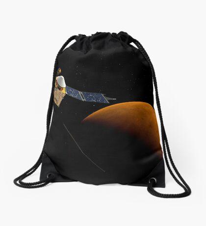 Künstlerisches Konzept der MAVEN-Raumsonde der NASA. Turnbeutel