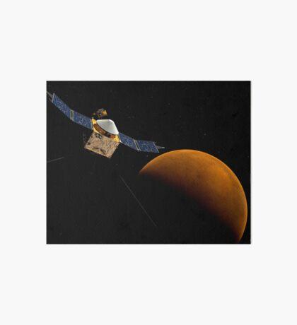 Künstlerisches Konzept der MAVEN-Raumsonde der NASA. Galeriedruck