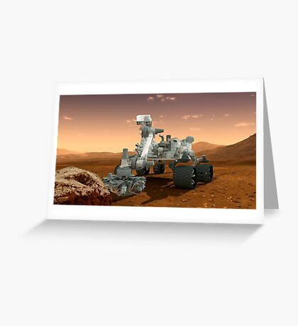 Künstler-Konzept der NASA Mars Science Laboratory Curiosity Rover. Grußkarte