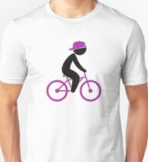 A cyclist rides on his bicycle T-Shirt