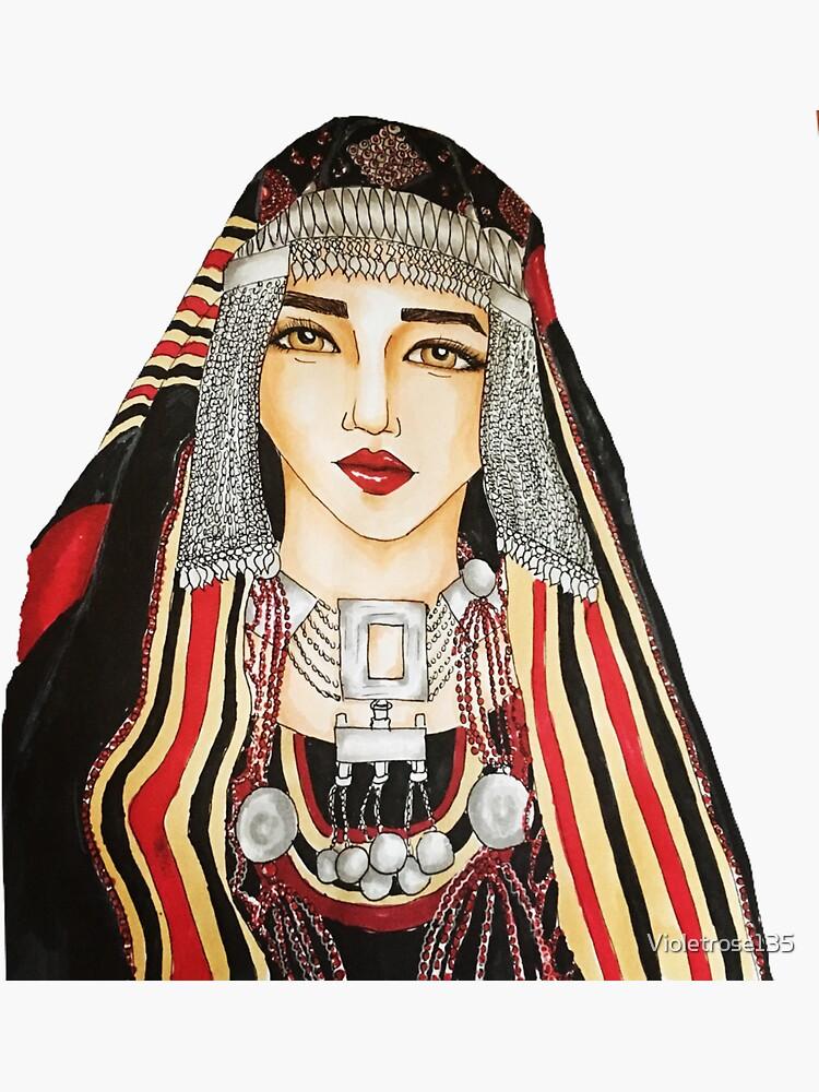 Yemeni woman Illustration  by Violetrose135