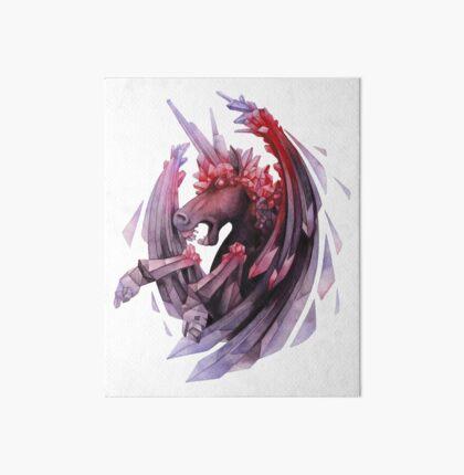 Watercolor crystallizing demonic horse Art Board