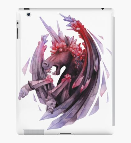 Watercolor crystallizing demonic horse iPad Case/Skin