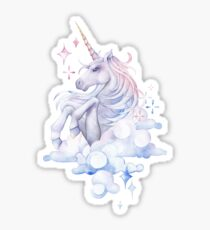 Cute watercolor unicorn Sticker