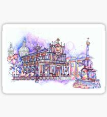Catania's Duomo in Colour Sticker