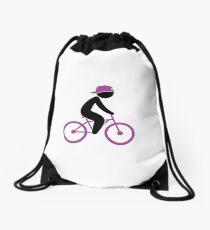 Biker Cyclist 1 (dd)++2013 Drawstring Bag
