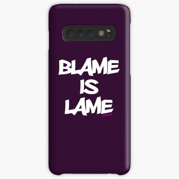 BLAME IS LAME! (white) Samsung Galaxy Snap Case