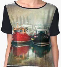 Seahouses Harbour Northumberland Women's Chiffon Top