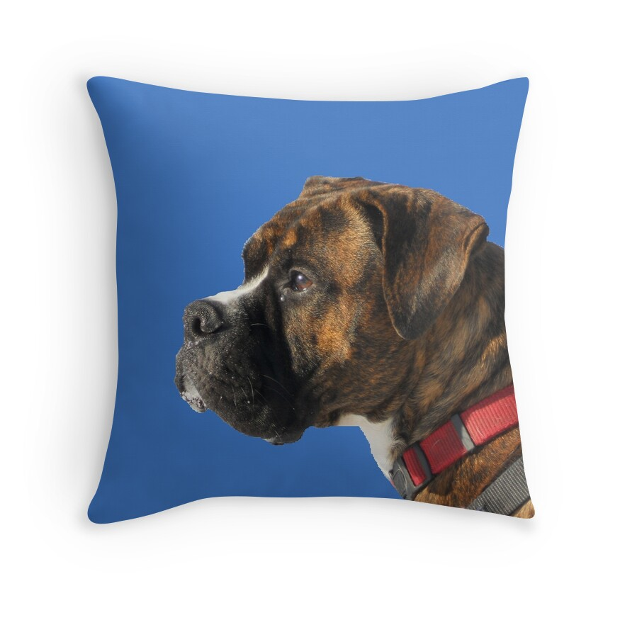 Red Dog Throw Pillows : Boxer Dog: Throw Pillows Redbubble